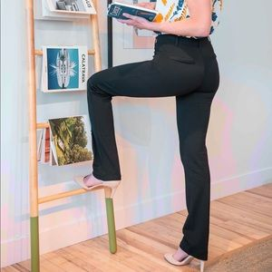 Betabrand straight leg classic dress pant - long